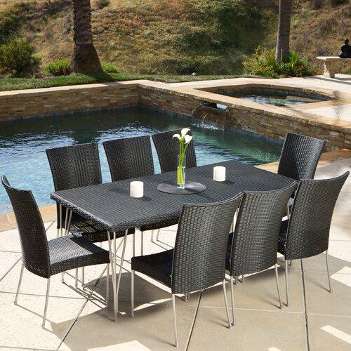 Home Loft Concept Cornick 9 Piece Outdoor Dining Set