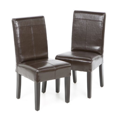 Home Loft Concept Cristina Bonded Leather Dining Chair (Set of 2)