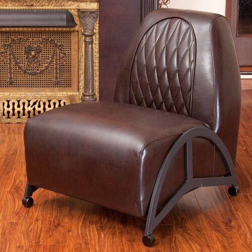 Greek Key Klismos Leather Slipper Chair Wayfair