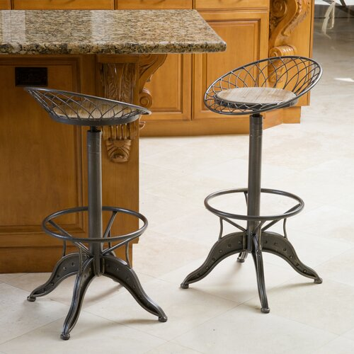Home Loft Concept Alonso Weathered Wood Barstool Amp Reviews