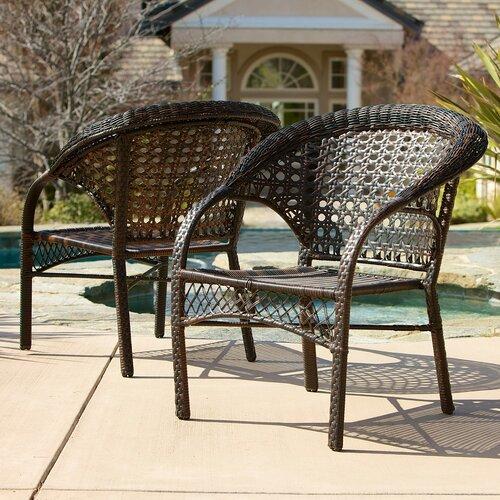 Home Loft Concept Darlington Outdoor Wicker Chairs Reviews Wayfair