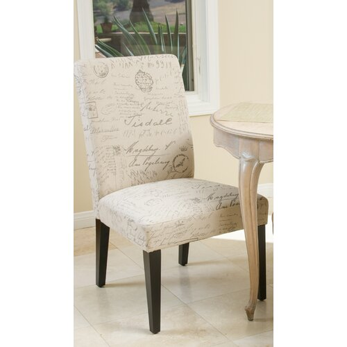 Home Loft Concept Toulusse French Script Fabric Dining Chairs (Set of 2) (Set of 2) ...