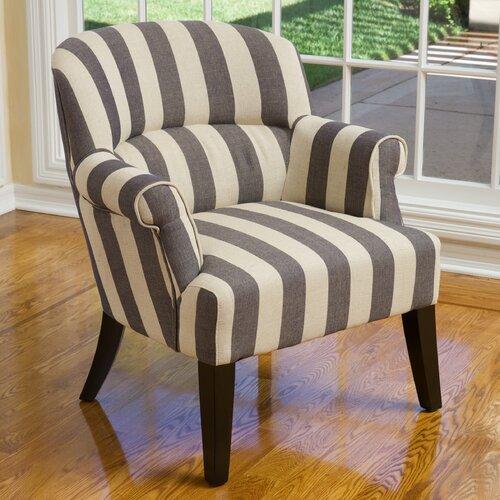 home loft concept drake stripe club chair reviews wayfair. Black Bedroom Furniture Sets. Home Design Ideas