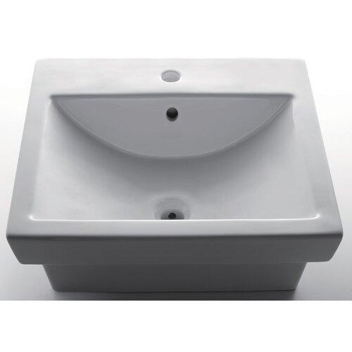 Porcelain Bathroom Sink with Single Hole