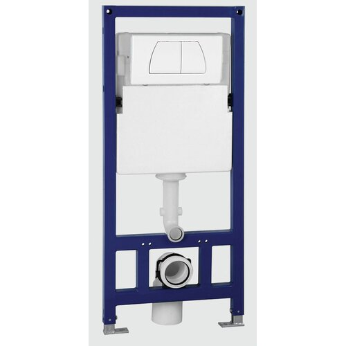 Dual Flush Wall Tank and Carrier for Wall Mounted Toilets
