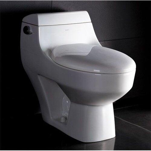 1.6 GPF Elongated 1 Piece Toilet