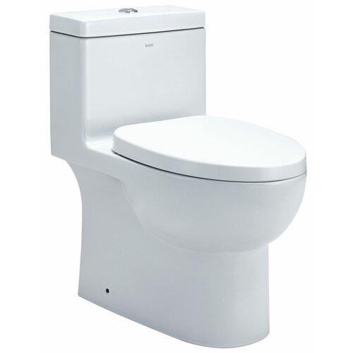Dual Flush Elongated Toilet 1 Piece
