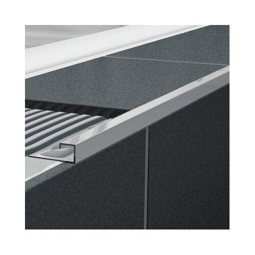 "Blanke Cubeline 96"" x 1"" Corner Piece Tile Trim in Aluminum Royal Champagne Anodized"