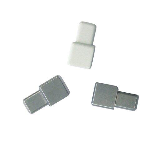 "Blanke Cubeline 1"" x 1"" Corner Piece Tile Trim in Aluminum Jasmin PVC Coated"