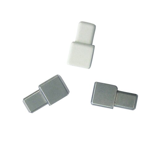 """Blanke Cubeline 1"""" x 1"""" Inner-Outer Corner Piece Tile Trim in Aluminum Royal Champagne Anodized"""