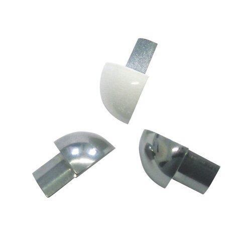 """Blanke 1"""" x 1"""" Corner Piece Tile Trim in PVC White"""