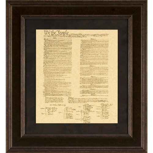 Constitution Framed Textual Art