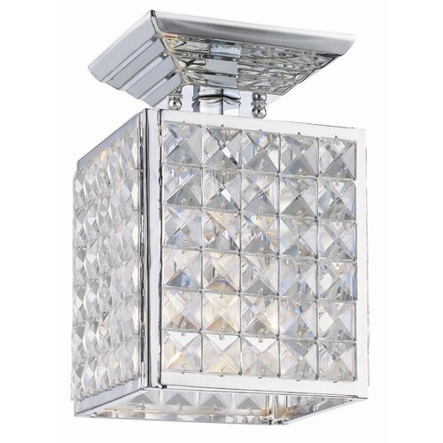 Crystorama Chelsea 1 Light Semi Flush Mount