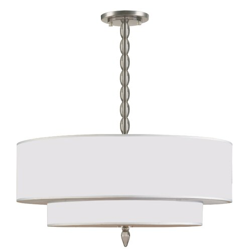Luxo Chandelier in Satin Nickel
