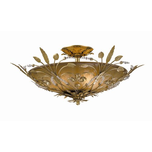 Crystorama Primrose 6 Light Semi Flush Mount