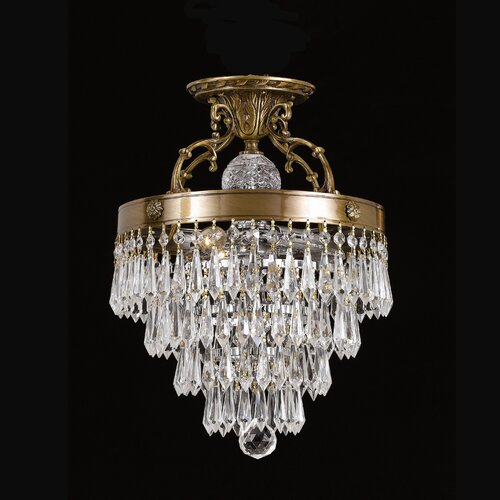 Crystorama Regal 3 Light Semi Flush Mount