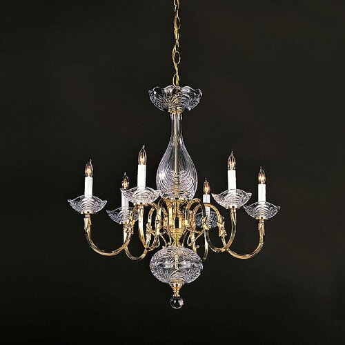 Historical Brass Chandelier in Polished Brass