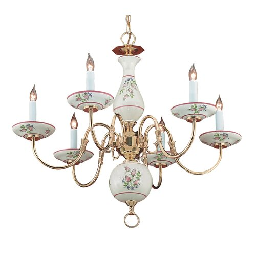 Classic Ceramic 6 Light Chandelier