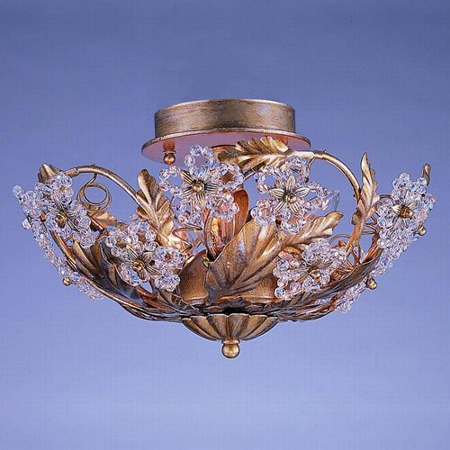 Crystorama Paris Flea Market 6 Light Semi Flush Mount