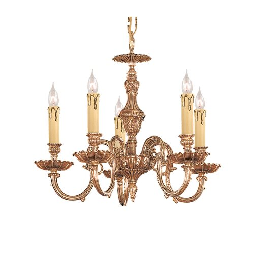 Crystorama Olde World 5 Light Candle Chandelier