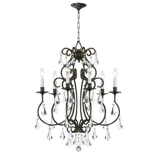 Crystorama Ashton 6 Light Mini Chandelier