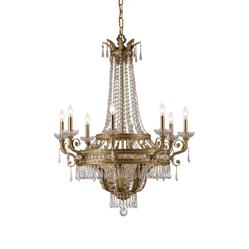 Crystorama Traditional Classic 12 Light Crystal Candle Chandelier