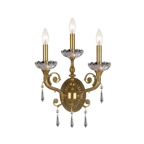 Traditional Classic 2 Light Crystal Candle Wall Sconce Wayfair