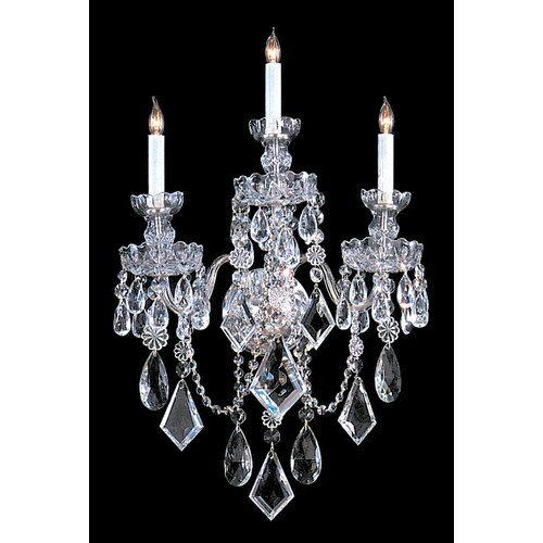 Bohemian Crystal 3 Light Candle Wall Sconce in Majestic Wood Polished Crystal Wayfair