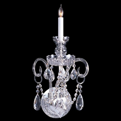 Crystorama Bohemian Crystal 1 Light Candle Wall Sconce