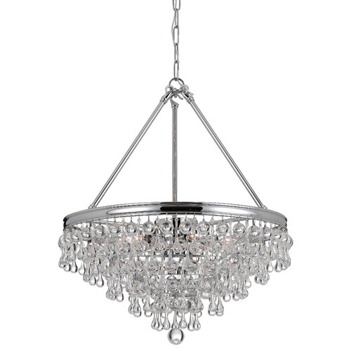 Calypso 8 Light Chandelier with Clear Smooth Balls