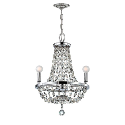 Crystorama Channing 3 Light Mini Chandelier