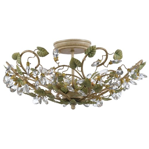 Crystorama Josie 3 Light Semi Flush Mount