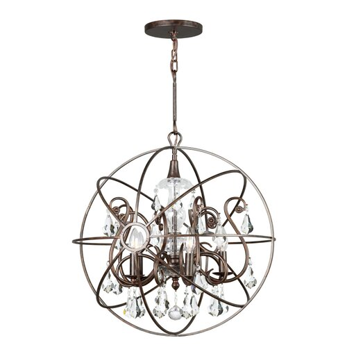 Crystorama Solaris 5 Light Chandelier