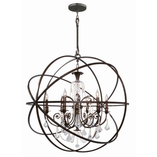 Crystorama Solaris 6 Light Chandelier