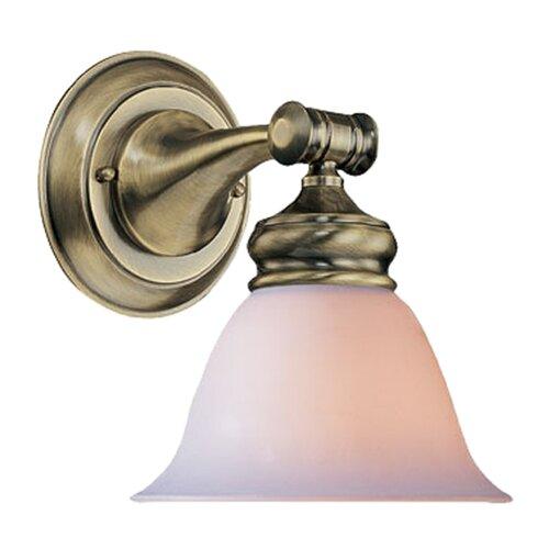 Crystorama Bathroom Lights 1 Light Wall Sconce