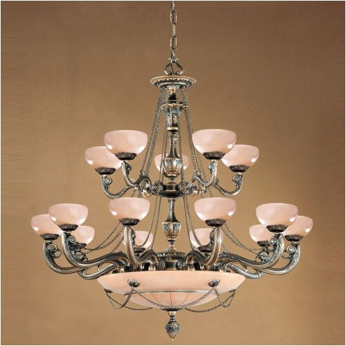 Crystorama Bravado Alabaster 20 Light Chandelier