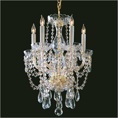 Crystorama Bohemian 5 Light Candle Chandelier