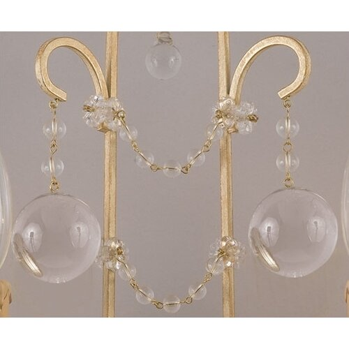 Crystorama Lena 2 Light Candle Wall Sconce