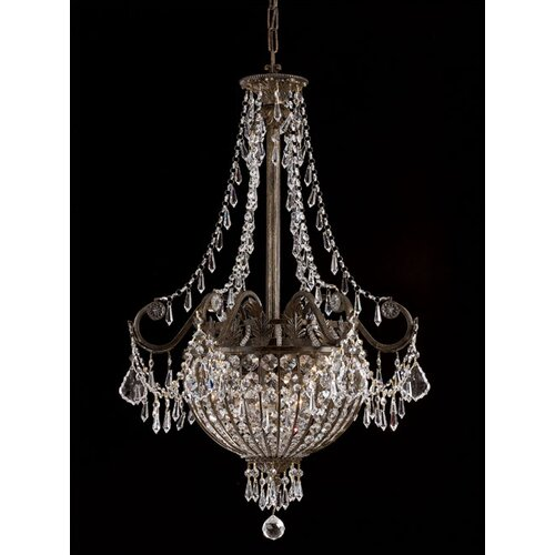 Crystorama Traditional Classic 6 Light Foyer Inverted Pendant