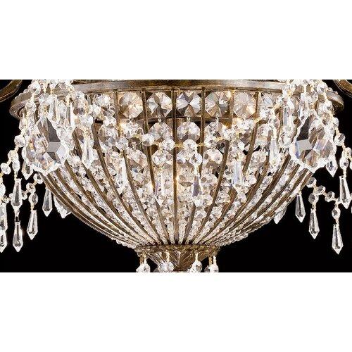 Crystorama Traditional Classic Crystal 6 Light Semi Flush Mou