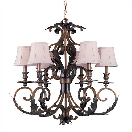 Crystorama Royal  6 Light Candle Chandelier
