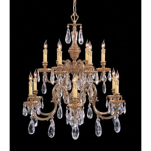 Novella 6 Light Chandelier in Olde Brass