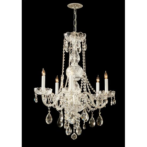 Traditional Crystal 5 Light Chandelier