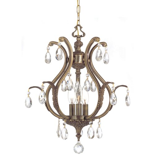 Crystorama Dawson 3 Light Chandelier