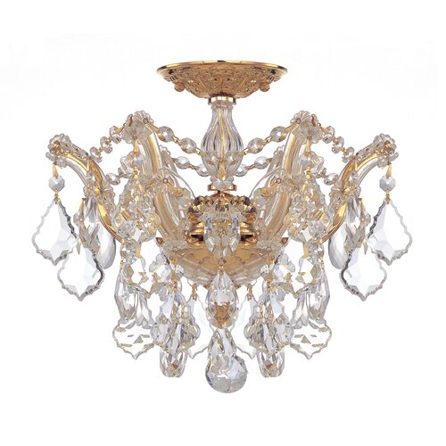 Crystorama Maria Theresa 3 Light Semi Flush Mount