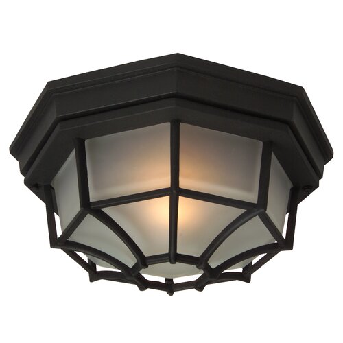 Jeremiah Bulkheads 1 Light Outdoor Flush Mount