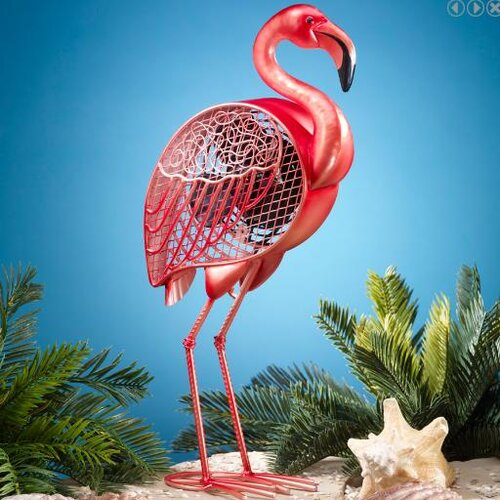 Deco Breeze Flamingo Figurine Table Top Fan