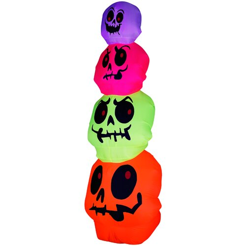Skulls Stack Halloween Decoration