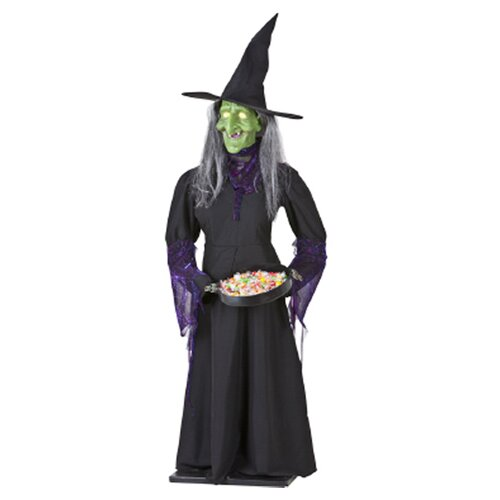 Airblown Animated Life Size Witch Halloween Decoration
