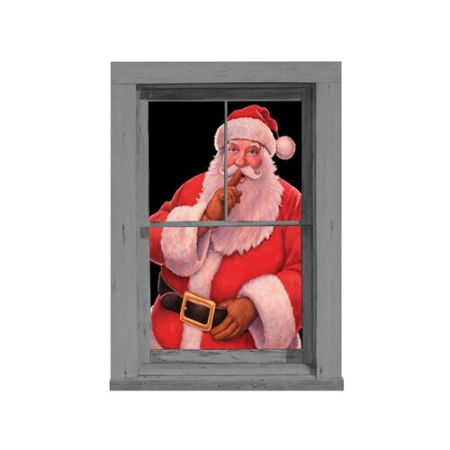 Santa Window Poster